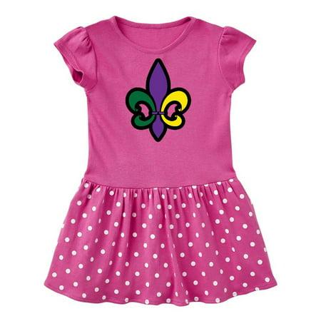 Fleur De Lis Mardi Gras Holiday Infant Dress - Marti Gras Dresses