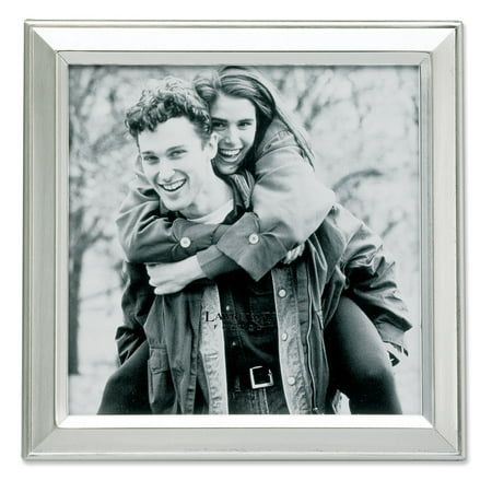 Brushed Silver Plated 5x5 Metal Picture Frame ()