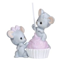 Precious Moments Special Wishes I'm Stuck on You - Two Mice with Cake Pop Figurine #124018