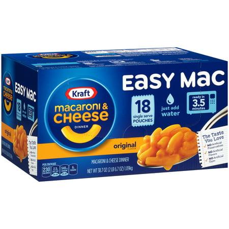 Kraft Easy Mac Original Flavor Macaroni & Cheese Dinner, 18 - 2.15 oz Microwavable Packets (Original And Easy To Make Halloween Costumes)