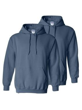 Gildan Adult Preshrunk Hooded Sweatshirt, Pack of 2