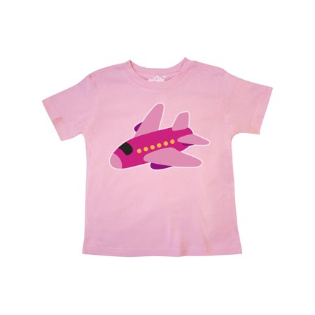 Girls Pink Airplane Pilot Toddler T-Shirt](Pink Bat Girl)