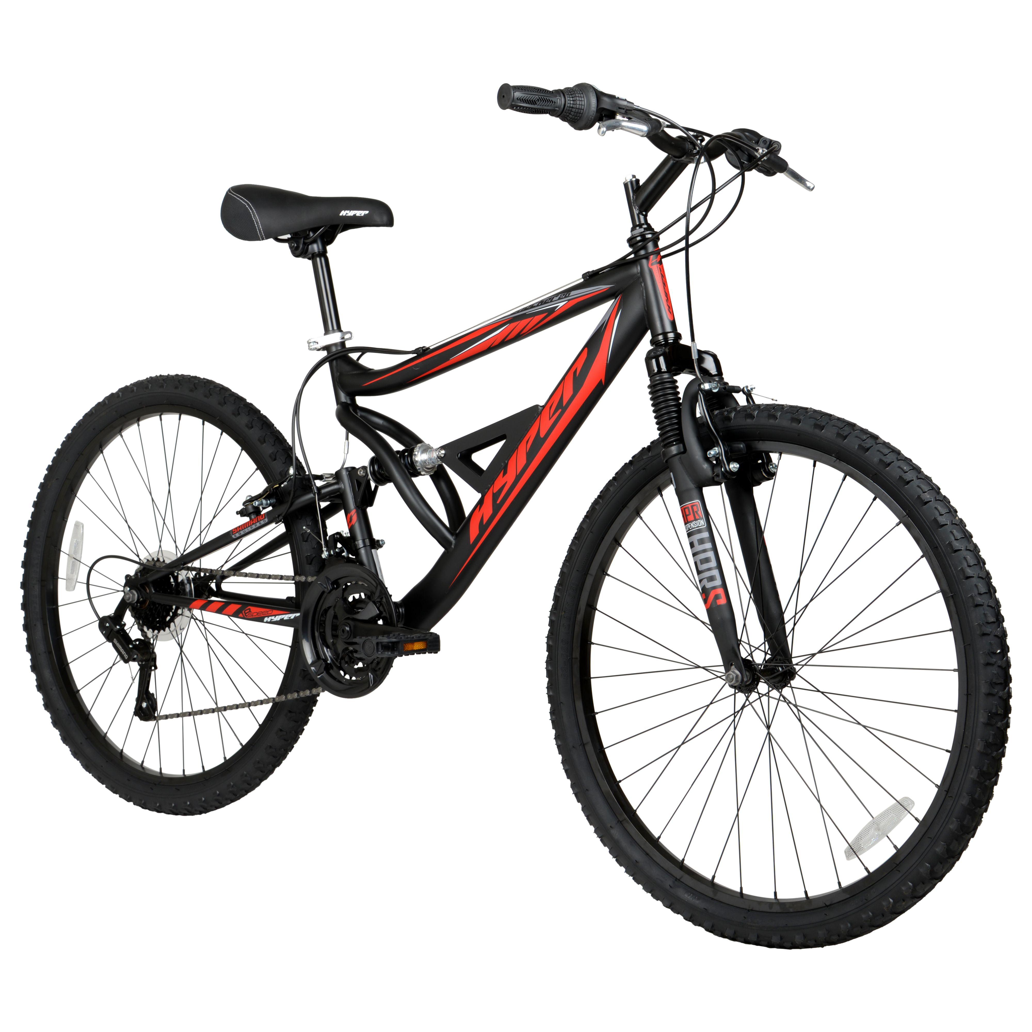 Dual Suspension Mountain Bike >> Hyper 26 Shocker Men S Dual Suspension Mountain Bike Black