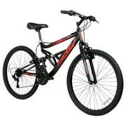 "Hyper 26"" Shocker Men's Dual Suspension Mountain Bike, Black"