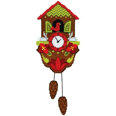 Design Works™ Christmas Clock Wall Hanging Plastic Canvas Kit ()