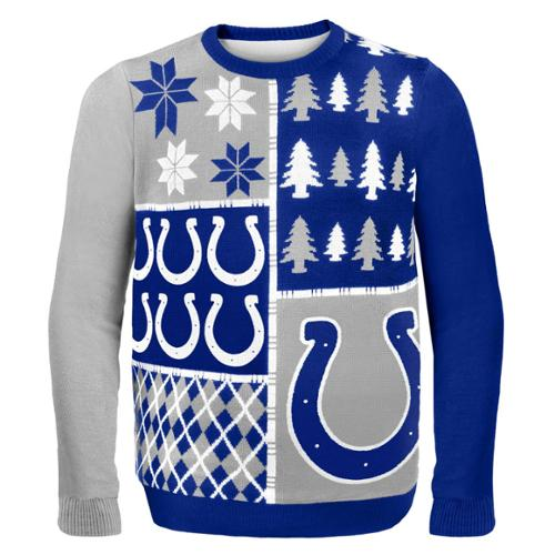 Indianapolis Colts Busy Block NFL Ugly Sweater XX-Large