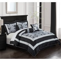 Nanshing Pastora 7-Piece Bedding Comforter Set, Gray, Queen