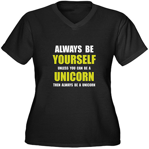 CafePress Women's Plus-Size Unicorn Humor Graphic T-shirt