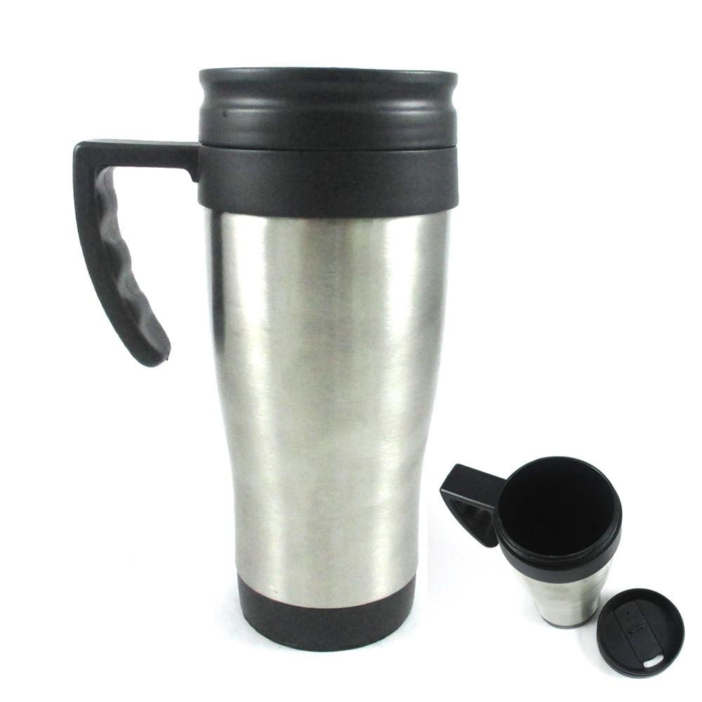 Stainless Steel Insulated Double Wall Travel Coffee Tea Mug Cup 14 Oz Thermo New Walmart Com Walmart Com