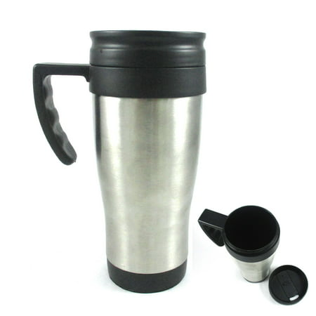 (Stainless Steel Insulated Double Wall Travel Coffee Tea Mug Cup 16 Oz Thermos !!)