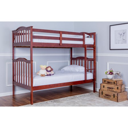 Camp Bunk Box (Dream On Me Cody 2-in-1 Twin Over Twin Bunk Bed, Mahogany, Box 1 of 3 )