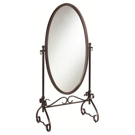 Kingfisher Lane Metal Cheval Mirror in Antique Brown