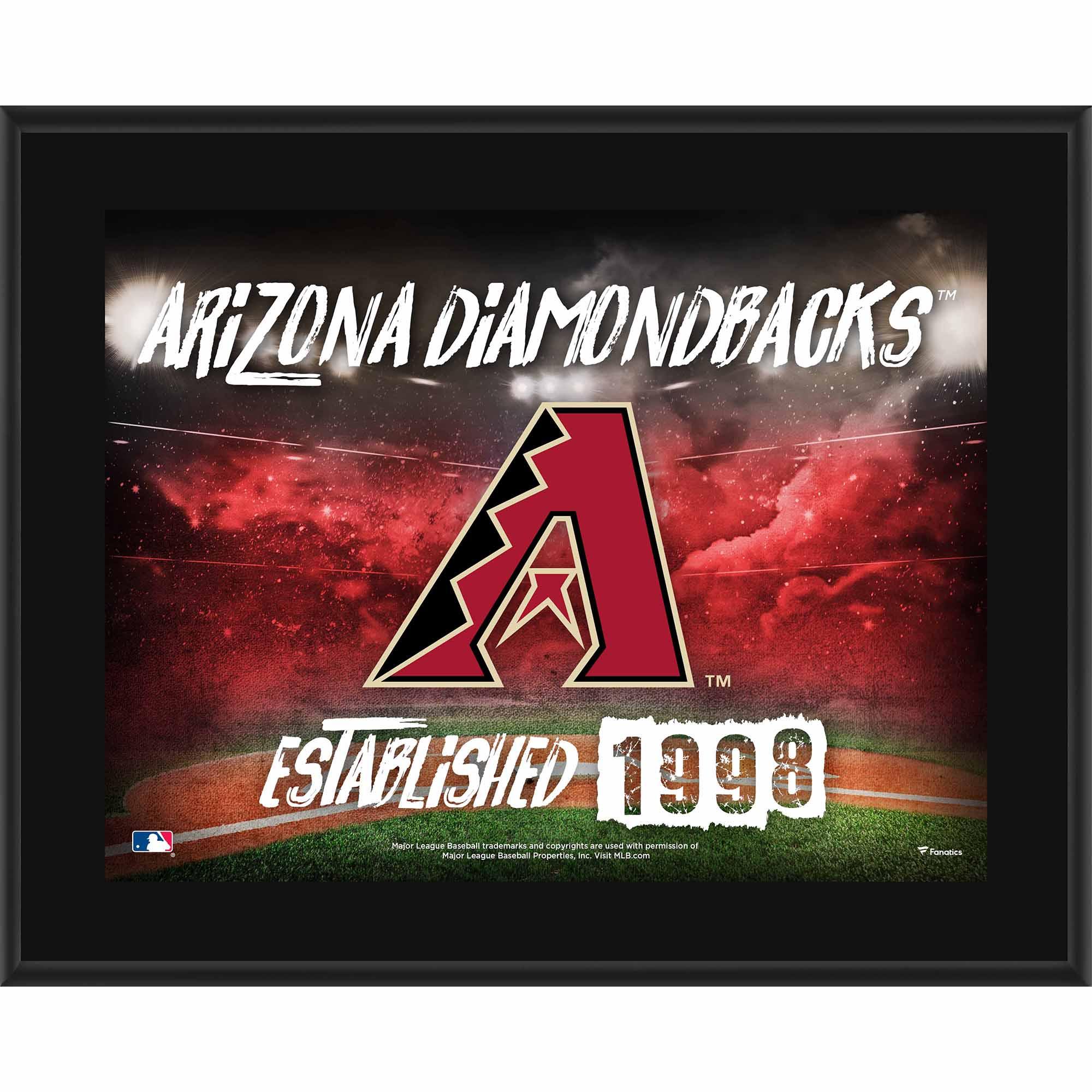 "Arizona Diamondbacks Fanatics Authentic 10.5"" x 13"" Sublimated Horizontal Team Logo Plaque - No Size"