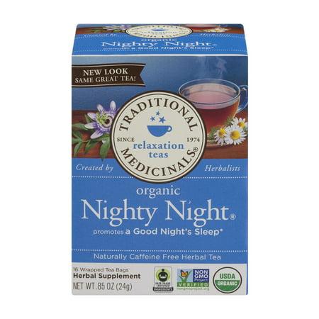 TRADITIONAL MEDICINALS Détente thés bio Nighty Night Sachets de thé - 16 CT