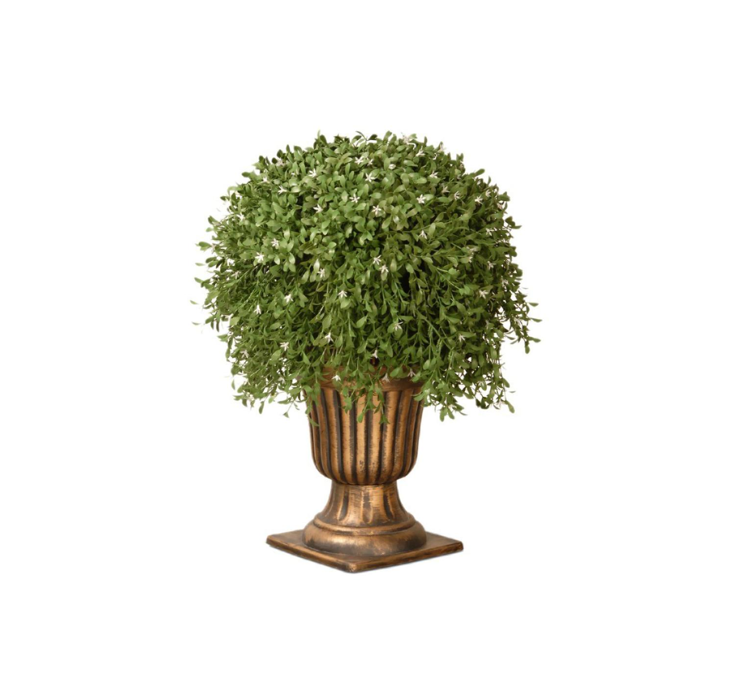 "26"" Potted Artificial Two-Tone Green Argentia Plant"