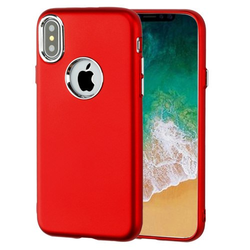 MUNDAZE Red Electroplate Luxury Candy Skin Case For Apple iPhone X Phone