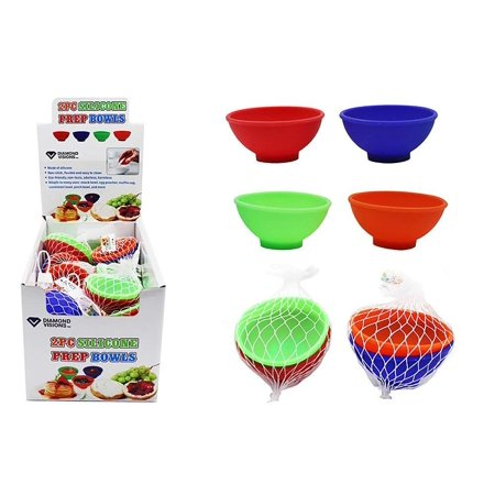 Diamond Visions 11-1575 Flexible Silicone Measuring Prep Bowls MultiPack in Assorted Colors (8 Bowls) ()