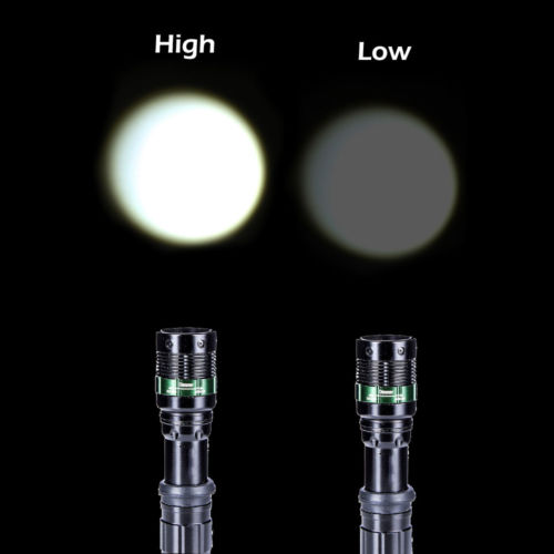 6X 10000Lumen Zoomable Focus LED Flashlight Torch Tactica...