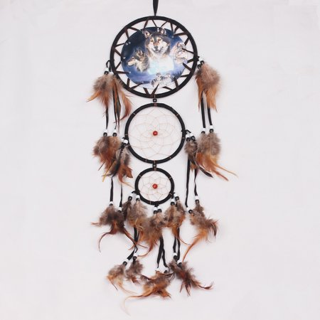 LingStar Beautiful Handmade Dream Catcher Hanging Ornament Wolf Totem-Wolf