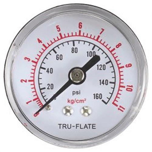 "75565 1-1/2"" Pressure Gauge (0 - 160 Psi) W/ 1/8"" Npt Rear Mount"