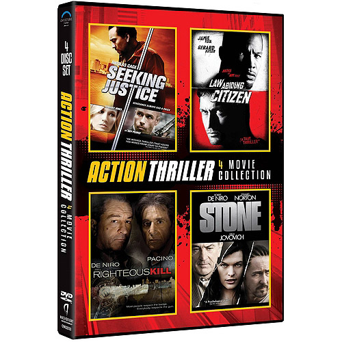 Action Thriller 4-Pack: Seeking Justice / Law Abiding Citizen / Righteous Kill / Stone (With INSTAWATCH) (Widescreen)