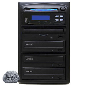 SySTOR 1:3 M-Disc Support CD DVD Duplicator + USB/SD/CF to Disc Backup Copier Tower