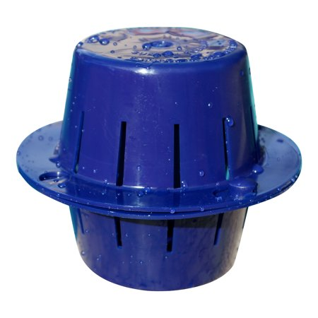 Sinking and Floating Chlorine Dispenser [Sunken Treasure] - Sinks, Sanitizes Pool Water, Then Floats for Refilling - Uses LESS Chlorine - Dark Blue