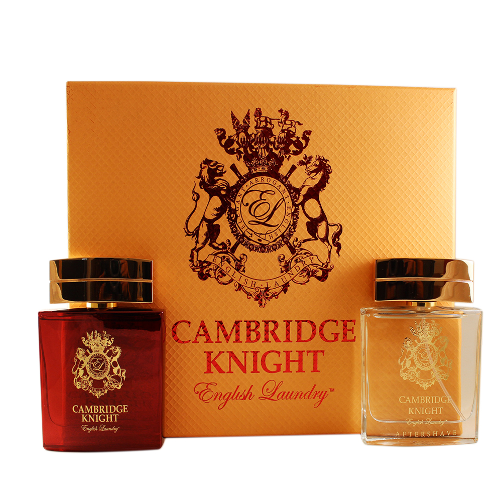 Cambridge Knight 2 Pc. Gift Set ( Eau De Parfum Spray 3.4 Oz + After Shave Spray 3.4 Oz )
