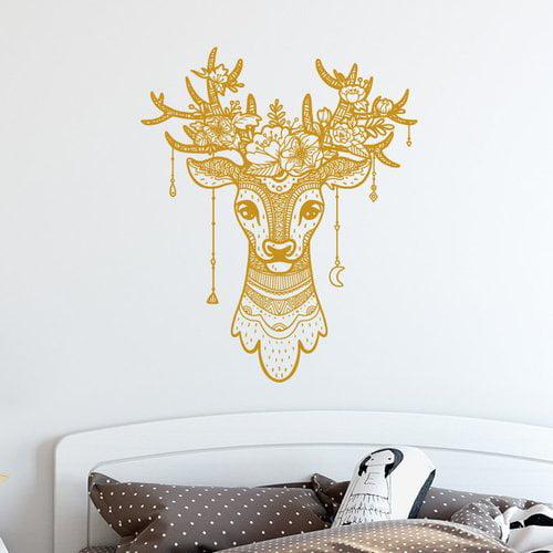 Decal House Deer Antler Boho Decor Wall Decal