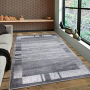 A2Z Palma 9958 Contemporary Transitional Border Soft Medium Area Rug Tapis Carpet Office (3x5 4x6 5x7 5x8 7x9 8x10)