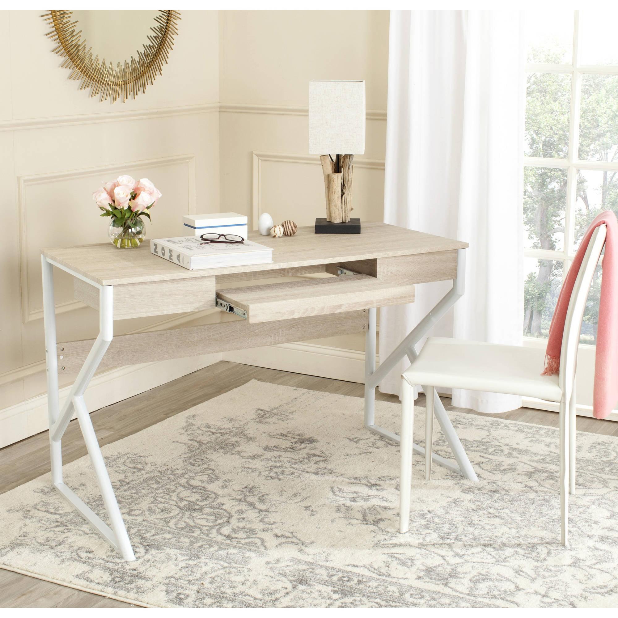 Safavieh Bryany Computer Desk, Natural Top White Legs by Safavieh