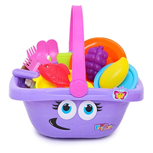 Cooking Play Set in Basket