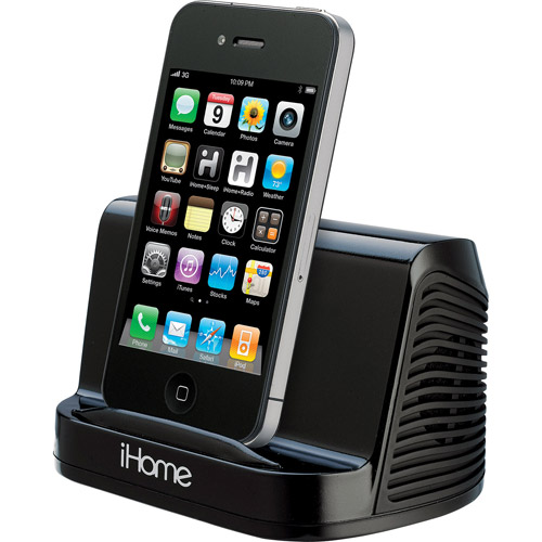 Awesome IHome IHM16B Portable Speaker System   Black For IPad/iPhone/iPod