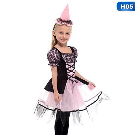 70's Halloween Outfits (Fancyleo Halloween Kids Girl Witch Costumes Cosplay Show Party Prom Fancy Dresses)