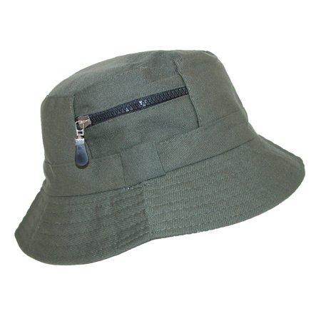 417652fe561 Jeanne Simmons - Jeanne Simmons Men s Cotton Bucket Hat with Zipper Pocket  - Walmart.com