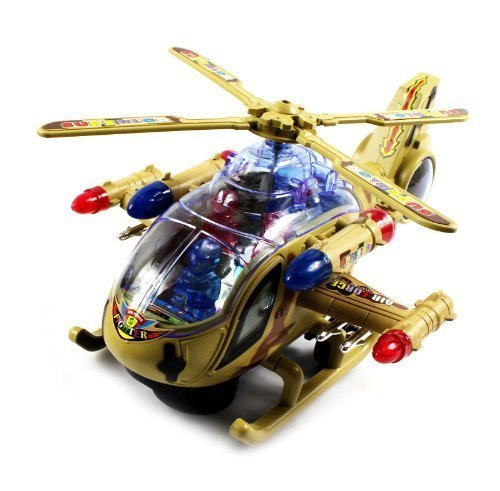 VT Superior Armored Battleship Battery Operated Kid's Bump and Go Toy Helicopter w ... by Velocity Toys