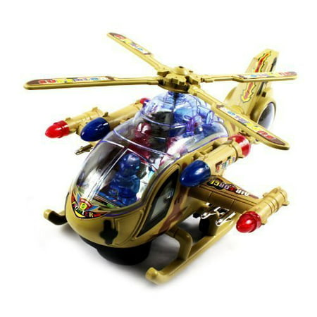 Vt Superior Armored Battleship Battery Operated Kids Bump And Go Toy Helicopter W  Awesome Flashing Lights  Sounds  Bumps Into Something And Will Change Direction  Colors May Vary