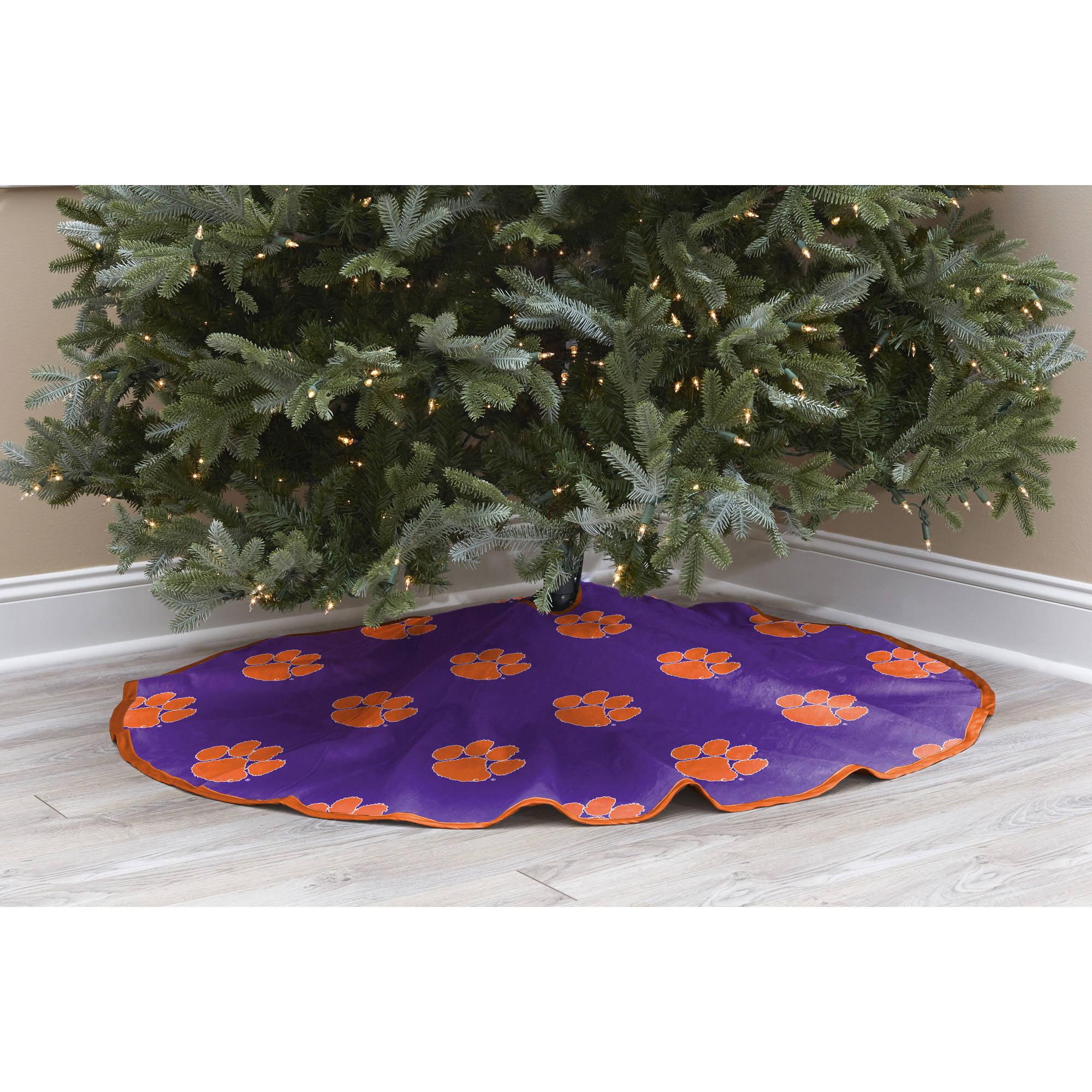 Clemson Christmas Tree: NCAA Licensed Logo Christmas Tree Skirt, Clemson