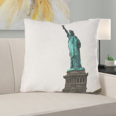 Latitude Run Phan Statue of Liberty Double Sided Print Throw Pillow (Statue Of Liberty Dress)
