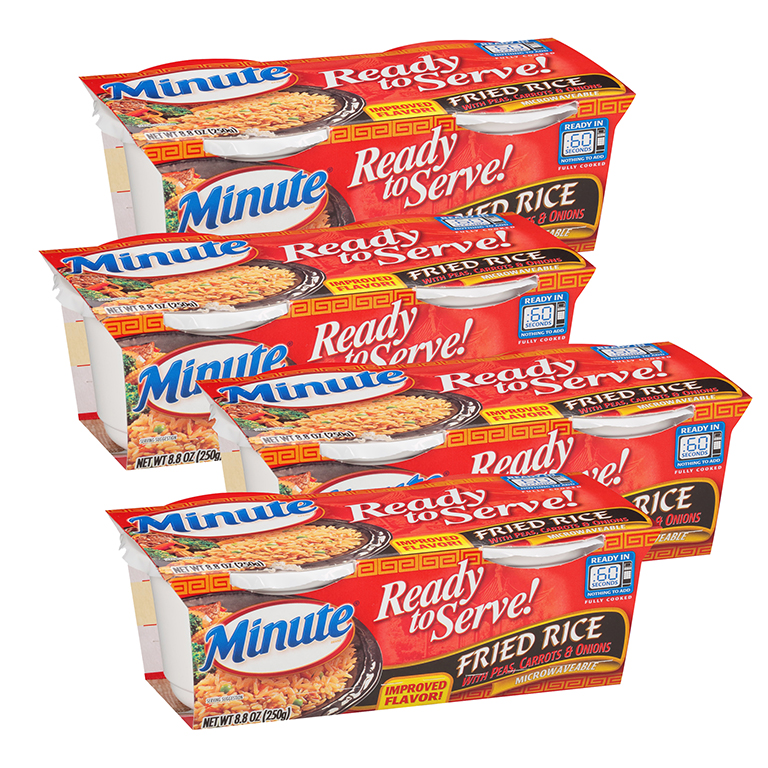 Minute Ready To Serve Fried Rice Mix With Peas Carrots & Onions 8.8 oz Pack (4 Packs)