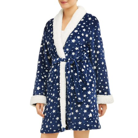 Embroidered Robe Set (Body Candy Women's Luxe Plush Sleepwear Robe and Slipper Set )