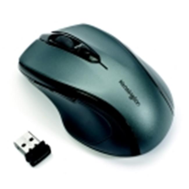 Kensington Pro Fit Optical Mid Sized Right Handed Wireless Mouse USB Interface, Graphite Gray by Kensington