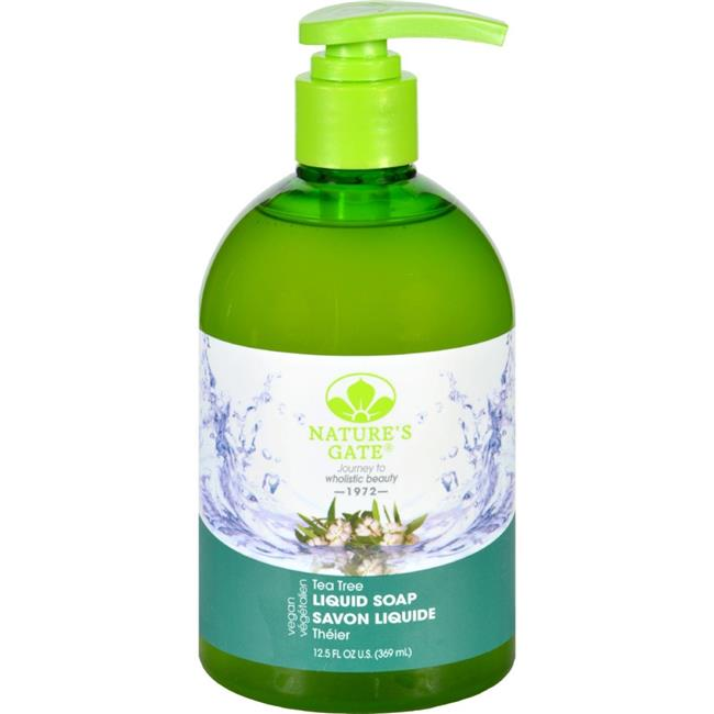 Natures Gate HG1713429 12.5 oz Hand Soap, Liquid - Tea Tree