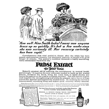 Ad Pabst Extract 1911 Namerican Advertisement For Pabst Extract A Health Tonic Produced By Pabst Brewing Company 1911 Rolled Canvas Art     18 X 24