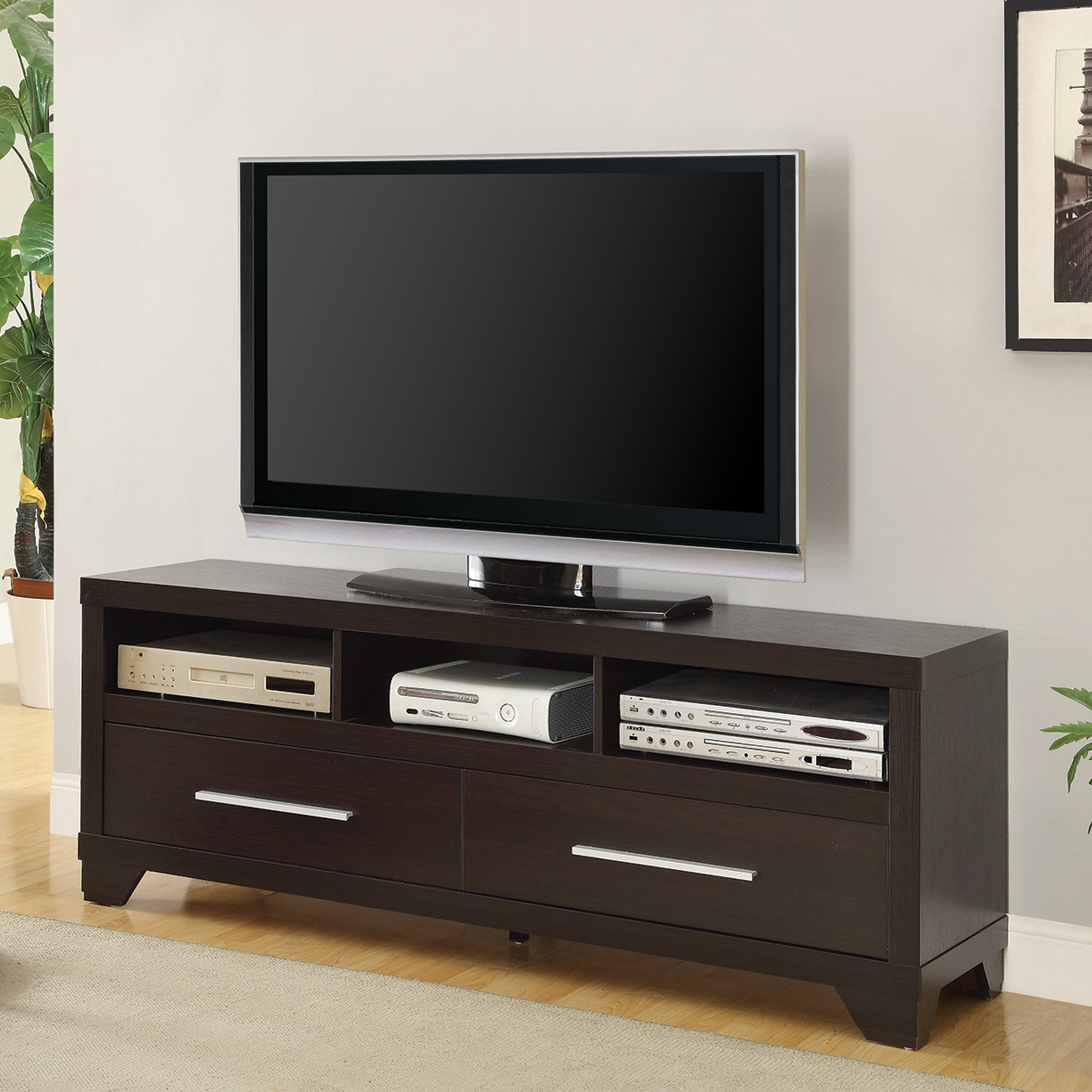 """Coaster Company TV Console for up to 60"""", Cappuccino"""