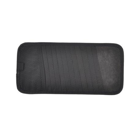 Unique Bargains Auto Vehicle Stretchy Band Black Nylon 12 Pocket CD Visor Holder (Blend Visor)