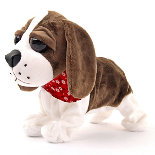 Interactive Animated Walking Pet Electronic Dog Plush Sou...