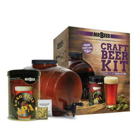 Mr. Beer Long Play IPA Beer Making Kit with Convenient 2 Gallon Fermenter Designed for Simple and Efficient