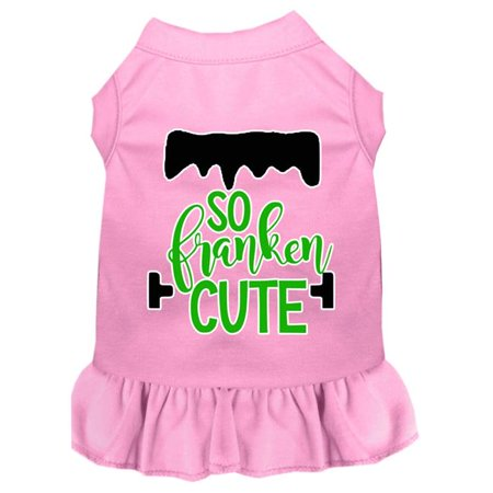 Mirage Pet 58-433 LPKMD So Franken Cute Screen Print Dog Dress, Light Pink - Medium