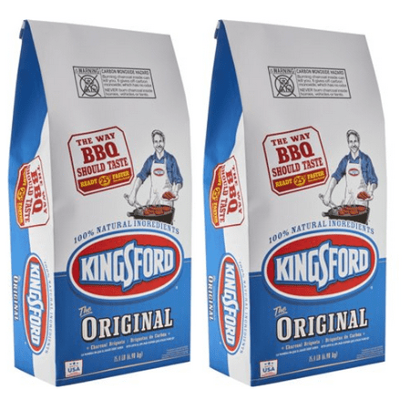 (2 pack) Kingsford Original Charcoal Briquettes, 15.4 lb Bag - Lighting Charcoal Briquettes